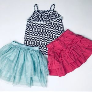 Hanna Anderson, H&M, Carter's Skirt Top Set 3T